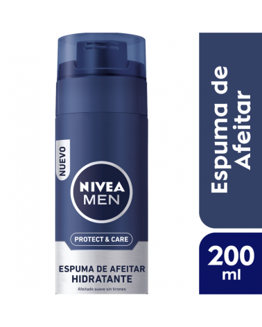 NIVEA Men Espuma de Afeitar Hidratante Protect & Care 200ml Nivea - 1