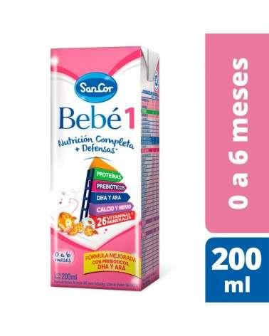 Leche Infantil Liquida  Sabor Original 200Ml Sancor Bebé 1 Sancor - 1