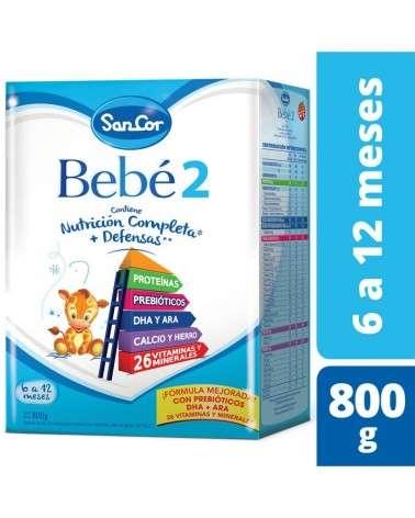 Leche Infantil Polvo Sabor Original 800Grs Sancor Bebé 2 Sancor - 1