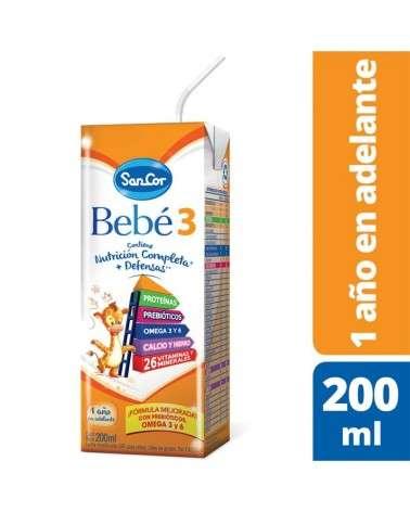 Leche Infantil Liquida   Sabor Original 200Ml Sancor Bebé 3 SancorBebe 3 - 1