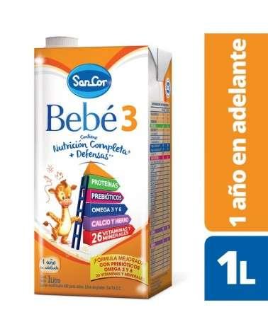 Leche Infantil Liquida   Sabor Original 1L Sancor Bebé 3 SancorBebe 3 - 1