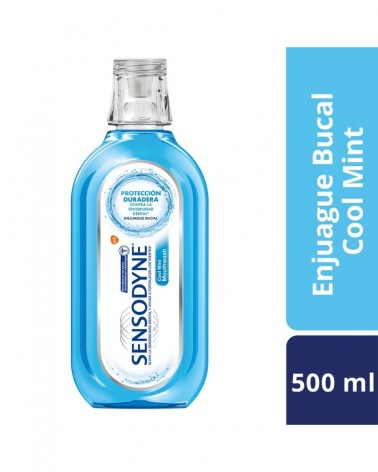 Sensodyne Cool Mint Enjuague Bucal para dientes sensibles  Aliento Fresco, 500 ml Sensodyne - 1