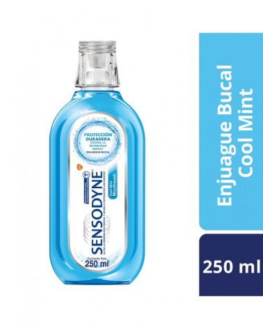 Sensodyne Cool Mint Enjuague Bucal para dientes sensibles Aliento Fresco, 250 ml Sensodyne - 1