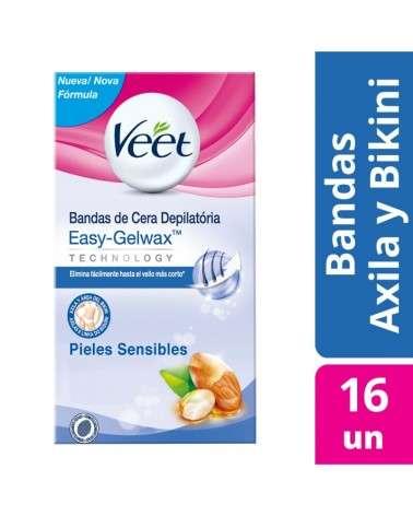 Bandas Depilatorias Axila Y Bikini Piel Sensible Veet 16U Veet - 1