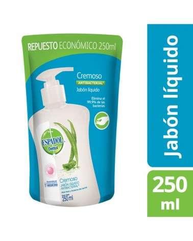 Jabón Liquido Antibacterial Cremoso Espadol Dettol 250Ml Espadol Dettol - 1