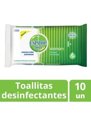 Toallas Antibacteriales  Espadol Dettol X10 Unidades Espadol Dettol - 1