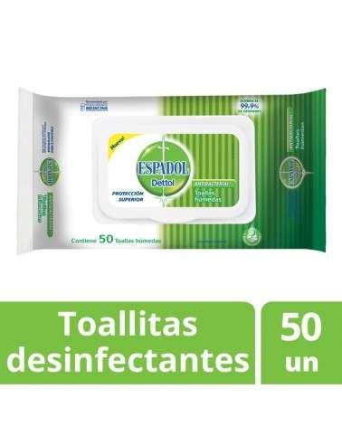 Toallas Antibacteriales  Espadol Dettol x 50 unidades Espadol Dettol - 1