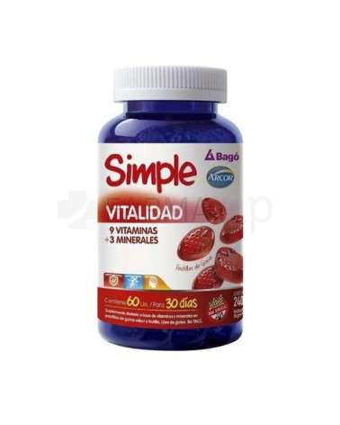 SIMPLE VITALIDAD X60PASTILLAS DE GOMA  - 1