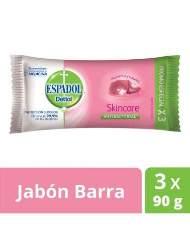 Jabón De Tocador Antibacterial  Skincare Espadol Dettol 90Grs X 3U Espadol Dettol - 1
