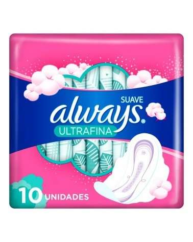 Toallitas Femeninas Always Suave Ultrafina 10 Unidades Always - 1