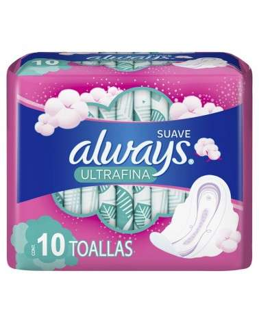 Toallitas Femeninas Always Suave Ultrafina 10 Unidades Always - 2
