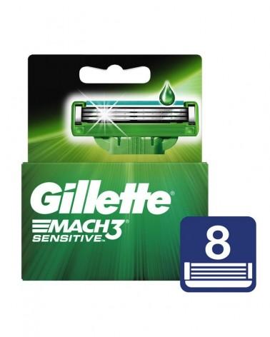 Cartuchos Para Afeitar Gillette Mach3 Sensitive 8 Unidades Gillette - 1