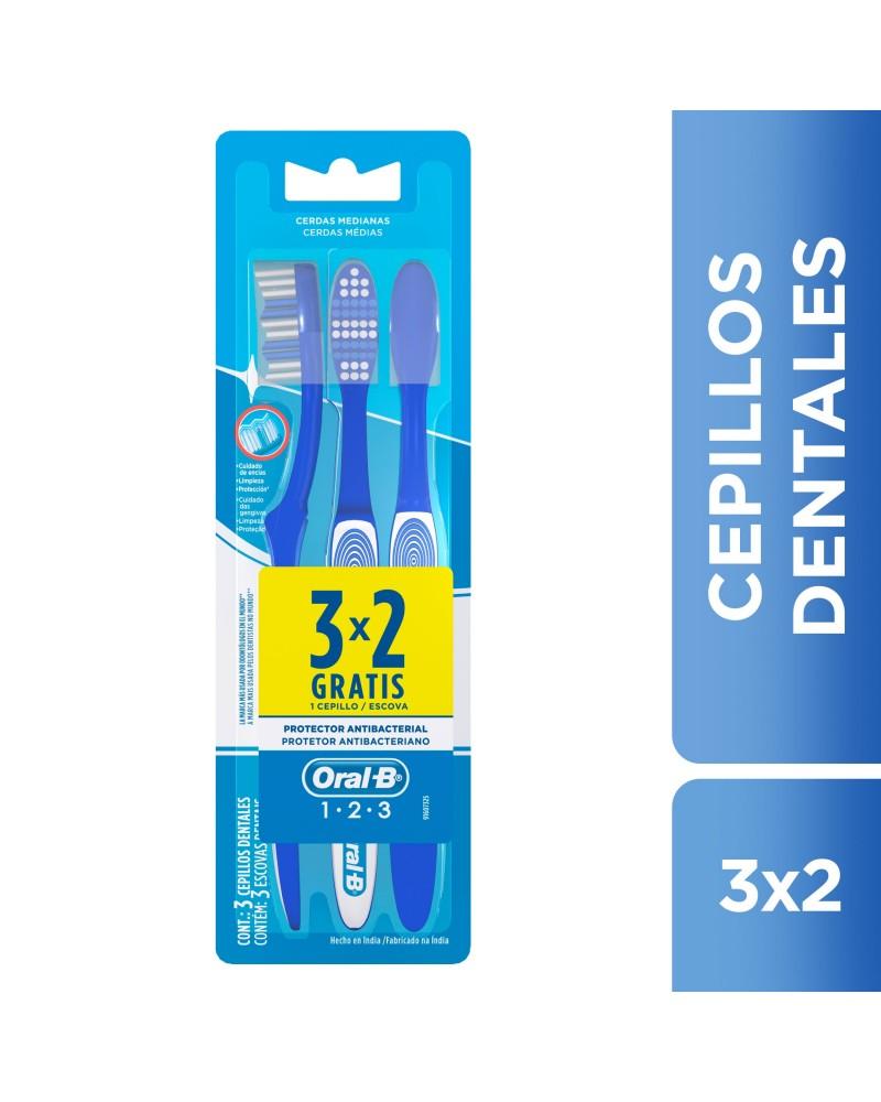 Cepillos Dentales Oral-B Classic 123 3 Unidades Oral-B - 1