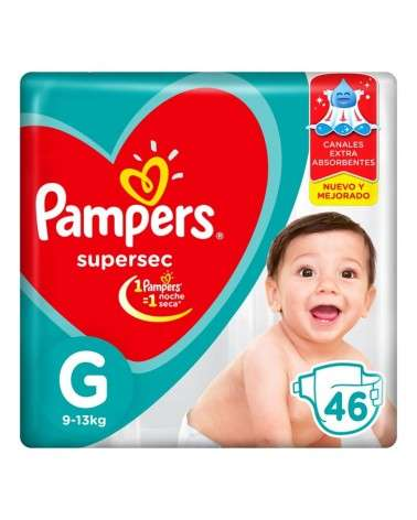 Pañales Pampers SuperSec G 46 Unidades Pampers - 1