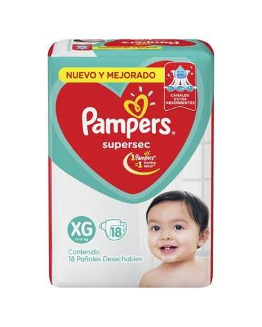 Pañales Pampers SuperSec XG 18 Unidades Pampers - 2