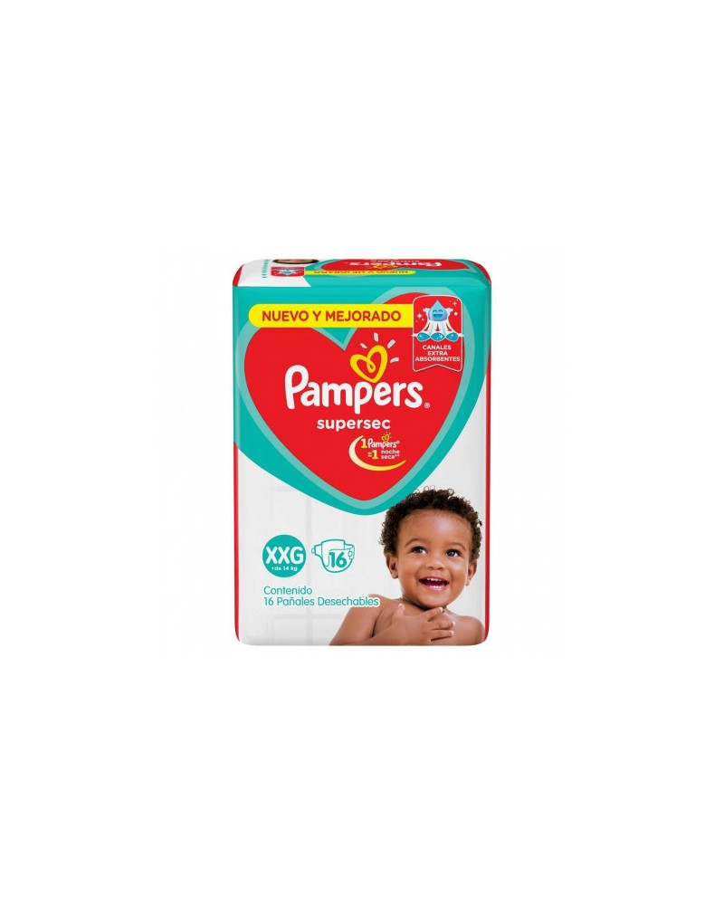 Pañales Pampers SuperSec XXG 16 Unidades Pampers - 1