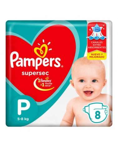 Pañales Pampers Supersec P 8 Unidades Pampers - 1