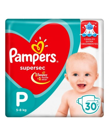 Pañales Pampers SuperSec P 30 Unidades Pampers - 1