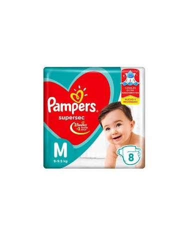 Pañales Pampers Supersec M 8 Unidades Pampers - 1