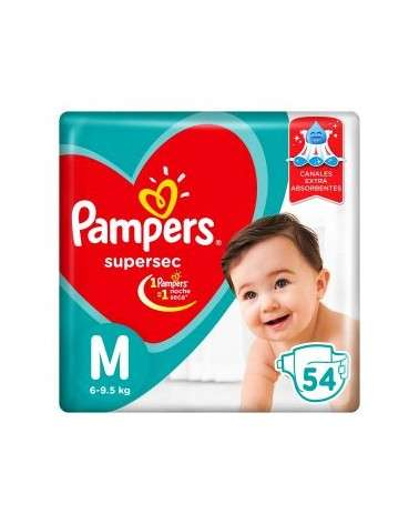 Pañales Pampers SuperSec M 54 Unidades Pampers - 1