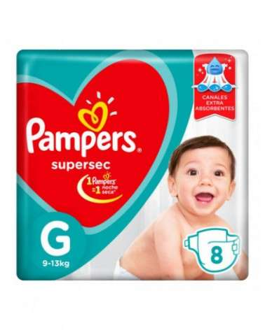 Pañales Pampers Supersec G 8 Unidades Pampers - 1