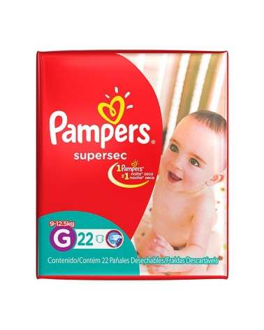 Pañales Pampers SuperSec G 22 Unidades Pampers - 1