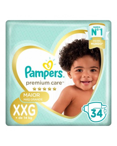Pañales Pampers Premium Care Xxg 34 Unidades Pampers - 1