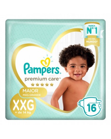 Pañales Pampers Premium Care XXG 16 Unidades Pampers - 1
