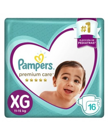 Pañales Pampers Premium Care XG 16 Unidades Pampers - 1