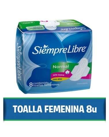 Toallas femeninas SIEMPRE LIBRE® Normal con alas x 8 un. Siempre Libre - 1