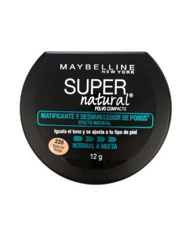 Polvo compacto Maybelline Super Natural Matificante 220 Natural Beige x 12g Maybelline - 1