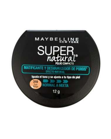 Polvo Compacto Maybelline Super Natural Matificante 310 Sun Beige X 12G Maybelline - 1