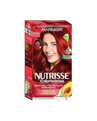 Kit Completo De Coloración Permanente Nutrisse Colorissimos Tono 6660 Manzana X 45 Gr Garnier - 2