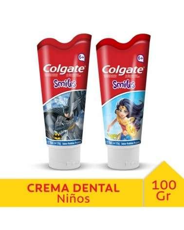 Crema Dental Colgate Smiles Batman/Wonder Woman 100G Colgate - 1