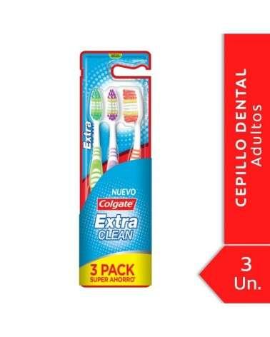 Cepillo Dental Colgate Extra Clean Medio 3Unid Colgate - 1