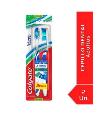 Cepillo Dental Colgate Triple Acción Medio 2Unid Colgate - 1