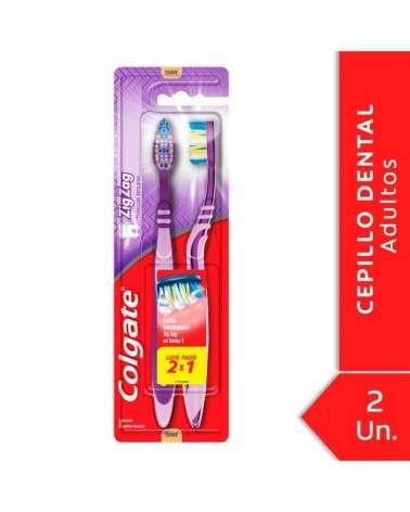 Cepillo Dental Colgate Zig Zag Plus Suave 2Unid Colgate - 1