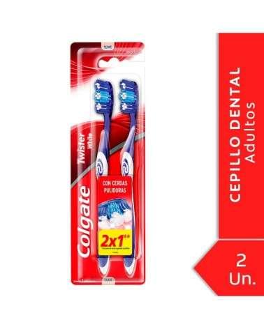 Cepillo Dental Colgate Twister White Suave 2Unid Colgate - 1