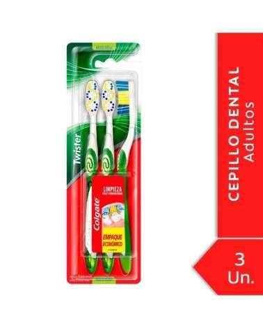 Cepillo Dental Colgate Twister Medio 3unid Colgate - 1