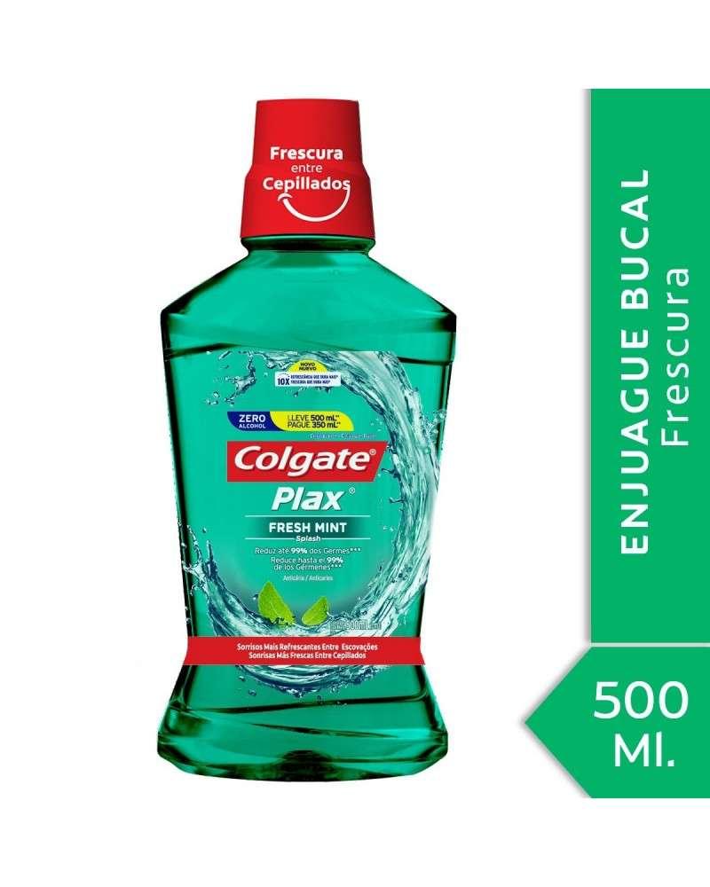 Enjuague Bucal Colgate Plax Fresh Mint 500Ml Promo Lleve 500Ml Pague 350Ml Colgate - 1