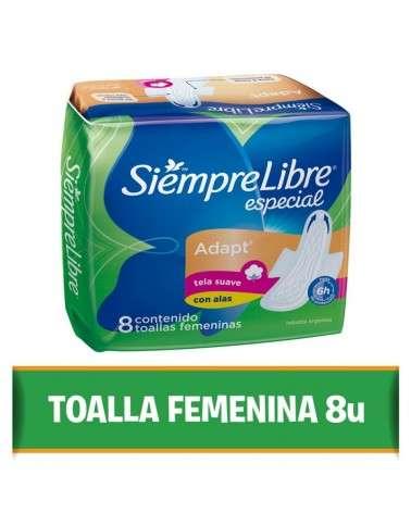 Toallas femeninas SIEMPRE LIBRE® Especial Adapt con alas x 8 un. Siempre Libre - 1