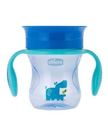 Chicco - Vasos Perfect Nene +12M (C/Membrana De Silicona 360° Removible) 200Ml Chicco - 1