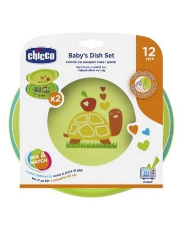 CHICCO - Set de Platos Neutral +12M Chicco - 1