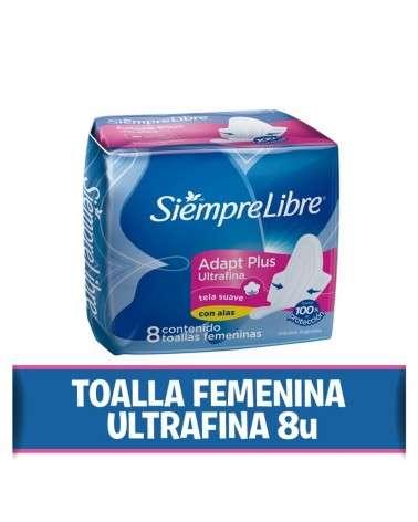 Toallas femeninas SIEMPRE LIBRE® Adapt Plus Ultrafina con alas x 8 un. Siempre Libre - 1